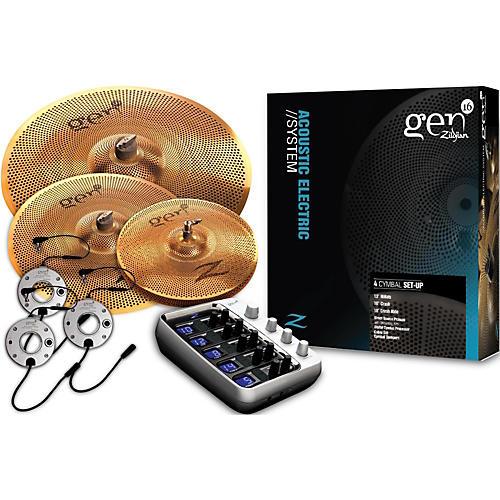zildjian gen16 buffed bronze 13 16 18 acoustic electric cymbal pack musician 39 s friend. Black Bedroom Furniture Sets. Home Design Ideas