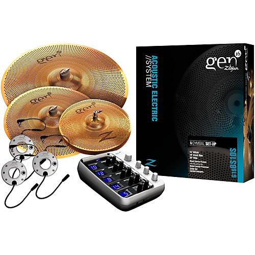 open box zildjian gen16 buffed bronze 14 18 20 acoustic electric cymbal pack musician 39 s friend. Black Bedroom Furniture Sets. Home Design Ideas