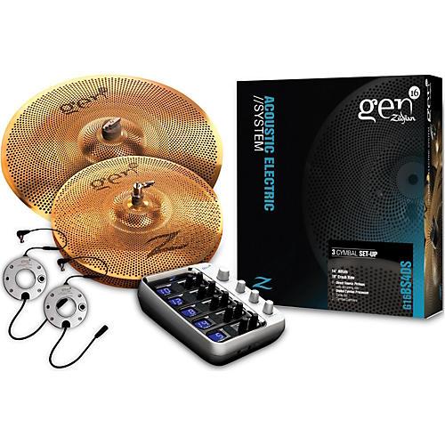 Zildjian Gen16 Buffed Bronze 14/18 Acoustic-Electric Cymbal Pack-thumbnail