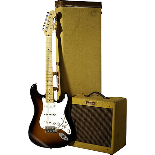 Fender Custom Shop George Fullerton 50th Anniversary 1957 Stratocaster Electric Guitar and Pro Junior Amp-thumbnail