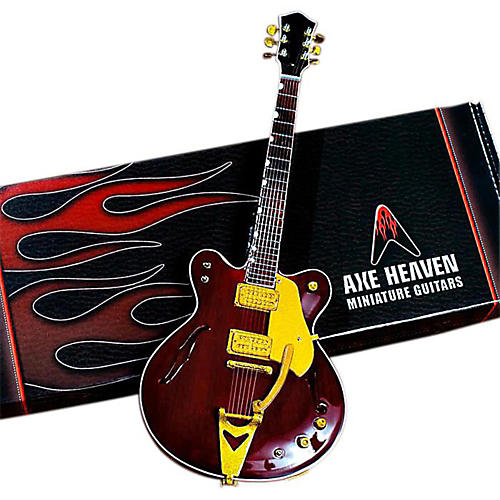 Axe Heaven George Harrison Counrty Gentleman Rosewood Hollow Body Miniature Guitar Replica Collectible-thumbnail