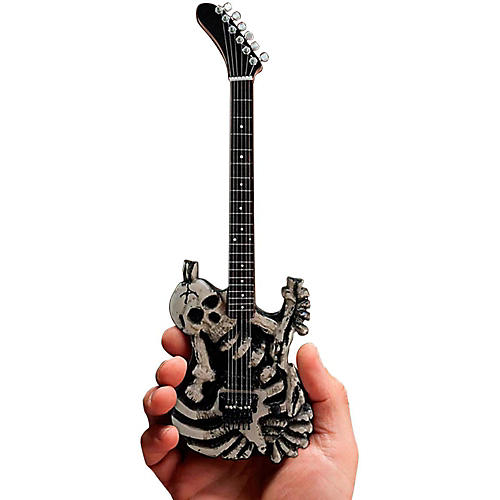 Axe Heaven George Lynch Skull & Bones Miniature Guitar Replica Collectible