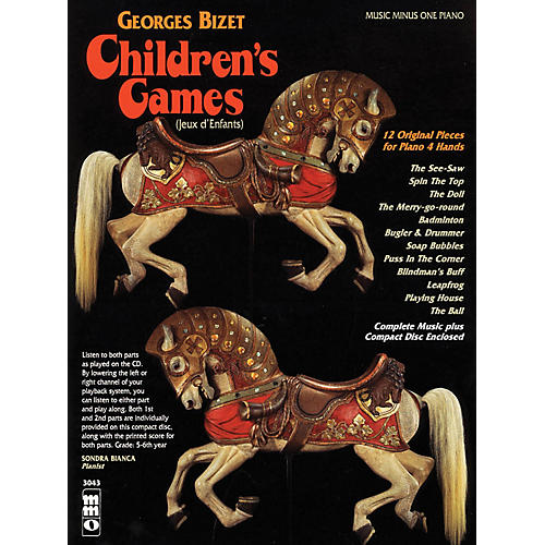 Music Minus One Georges Bizet - Children's Games (Jeux d'Enfants) Music Minus One Softcover with CD by Georges Bizet-thumbnail