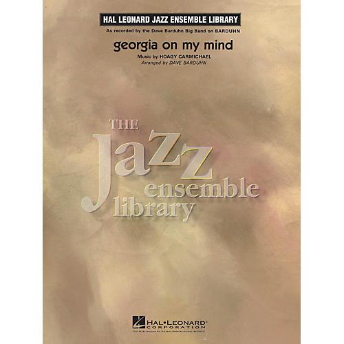 Hal Leonard Georgia on My Mind Jazz Band Level 4 Arranged by Dave Barduhn-thumbnail