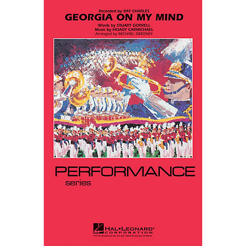 Hal Leonard Georgia on My Mind Marching Band Level 4 Arranged by Michael Sweeney-thumbnail