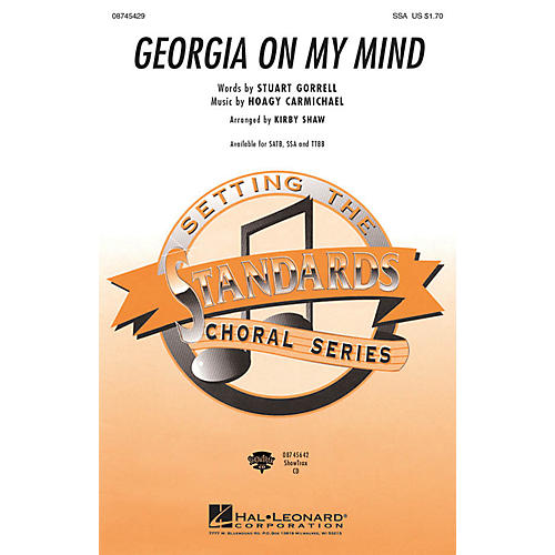 Hal Leonard Georgia on My Mind SSA arranged by Kirby Shaw