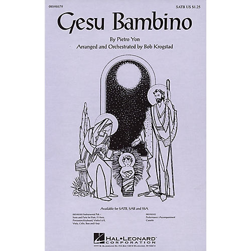 Hal Leonard Gesu Bambino SSA Arranged by Bob Krogstad-thumbnail