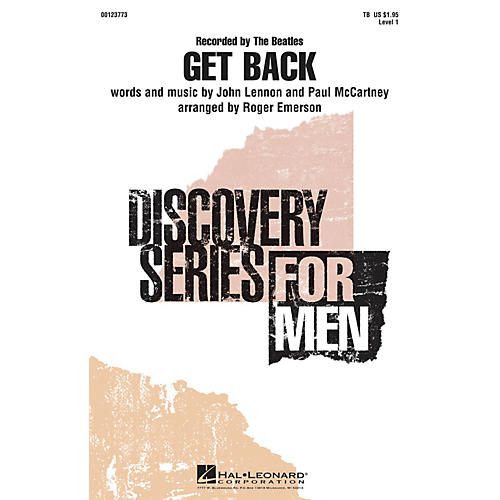 Hal Leonard Get Back (Discovery Level 1) TB by The Beatles arranged by Roger Emerson-thumbnail