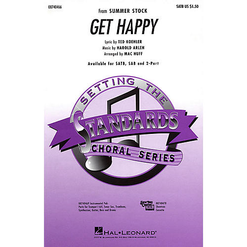 Hal Leonard Get Happy 2-Part Arranged by Mac Huff