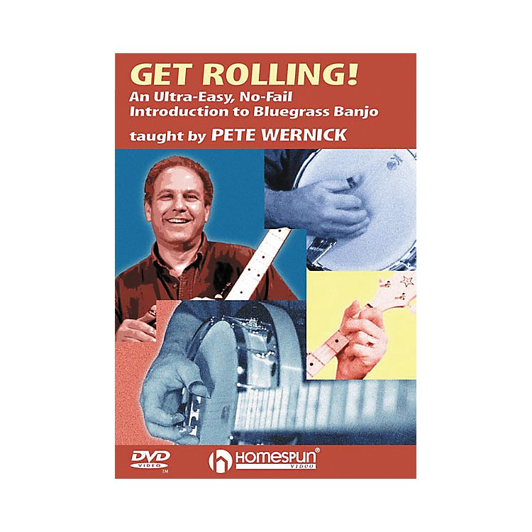 Homespun Get Rolling - An Ultra-Easy, No-Fail Introduction to Bluegrass Banjo (DVD)
