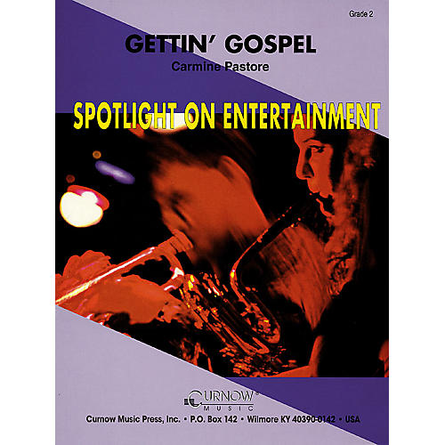 Curnow Music Gettin' Gospel (Grade 2 - Score Only) Concert Band Level 2 Composed by Carmine Pastore-thumbnail