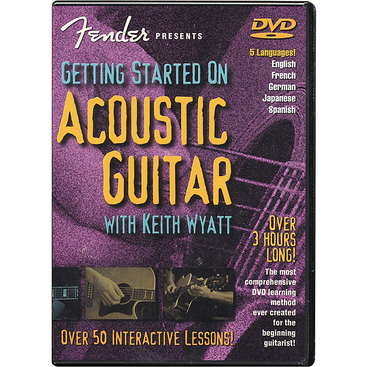 Fender Getting Started On Acoustic Guitar DVD