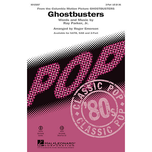 Hal Leonard Ghostbusters 2-Part arranged by Roger Emerson-thumbnail