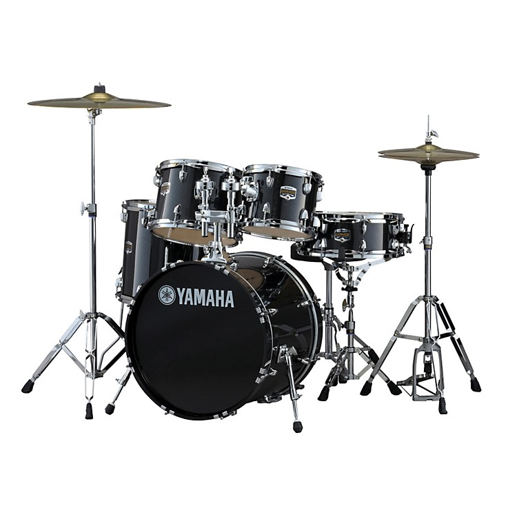yamaha gigmaker 5 piece drum set with 20 bass drum