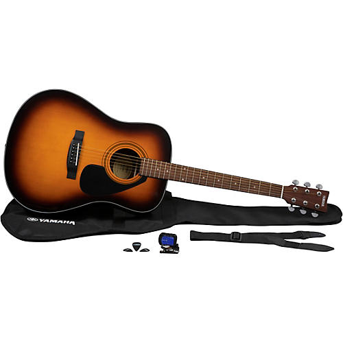 Yamaha GigMaker Acoustic Guitar Pack Tobacco Brown Sunburst