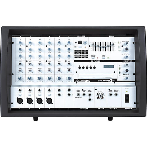 Alesis GigaMix 4CD Powered Mixer with CD Player-thumbnail