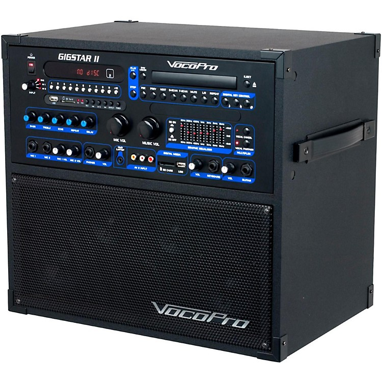 VocoProGigstar II Portable 100W 4-Channel PA/Karaoke System