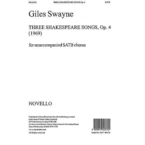 Music Sales Giles Swayne: Three Shakespeare Songs Op.4 SATB Music Sales America Series-thumbnail