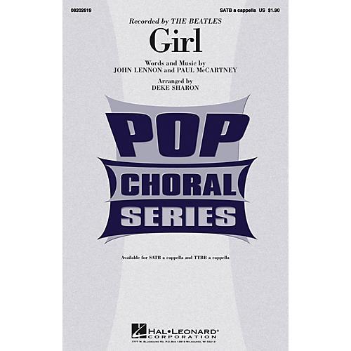 Hal Leonard Girl SATB a cappella by The Beatles arranged by Deke Sharon