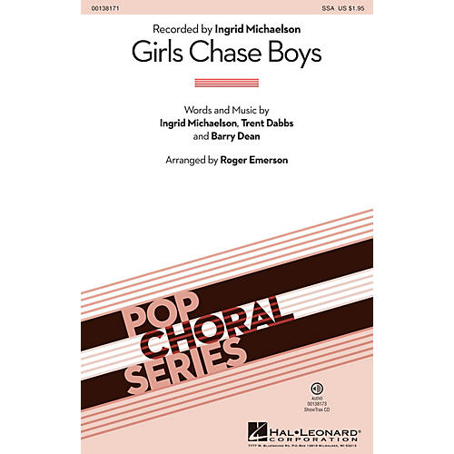 Hal Leonard Girls Chase Boys ShowTrax CD by Ingrid Michaelson Arranged by Roger Emerson-thumbnail