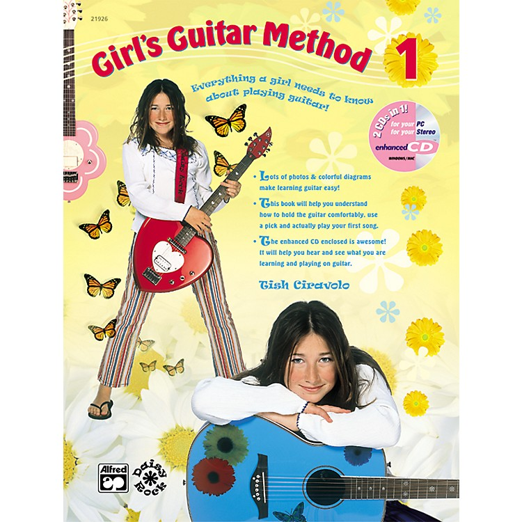 Alfred Girl's Guitar Method 1 Book & Enhanced Cd