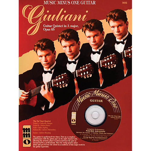 Music Minus One Giuliani - Guitar Quintet in A Major, Op. 65 Music Minus One Series Softcover with CD by Mauro Giuliani-thumbnail