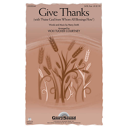 Shawnee Press Give Thanks SATB WITH FLUTE (OR C-INST) arranged by Vicki Tucker Courtney-thumbnail