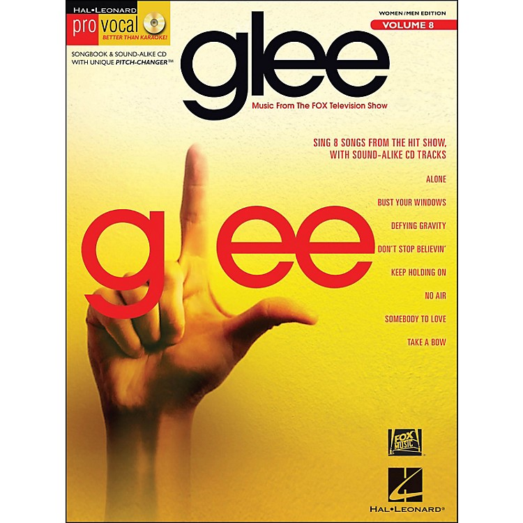 Hal Leonard Glee - Pro Vocal Songbook & CD for Women/Men Volume 8