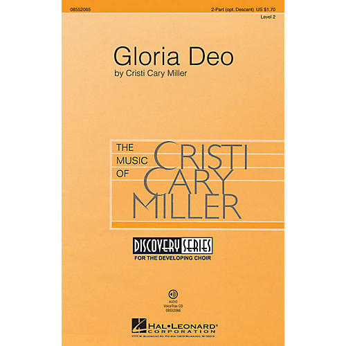 Hal Leonard Gloria Deo (Discovery Level 2) 2 Part / 3 Part composed by Cristi Cary Miller-thumbnail