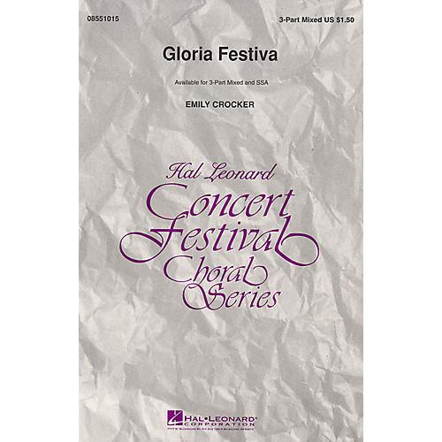 Hal Leonard Gloria Festiva 3-Part Mixed composed by Emily Crocker-thumbnail