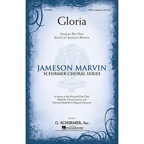 G. Schirmer Gloria (Jameson Marvin Choral Series) TTBB A Cappella composed by Josquin des Prez
