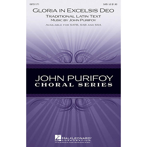 Hal Leonard Gloria in Excelsis Deo SATB composed by John Purifoy