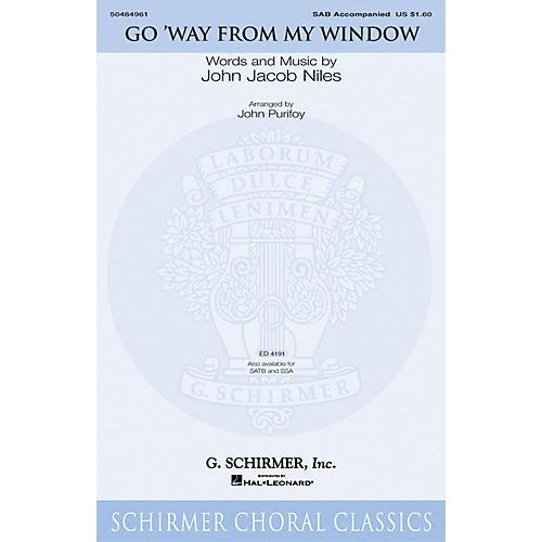 G. Schirmer Go Way from My Window SAB arranged by John Purifoy-thumbnail