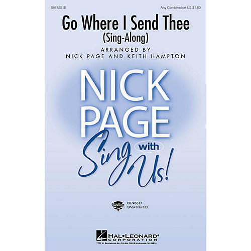 Hal Leonard Go Where I Send Thee (Sing-along) Any Combination arranged by Nick Page