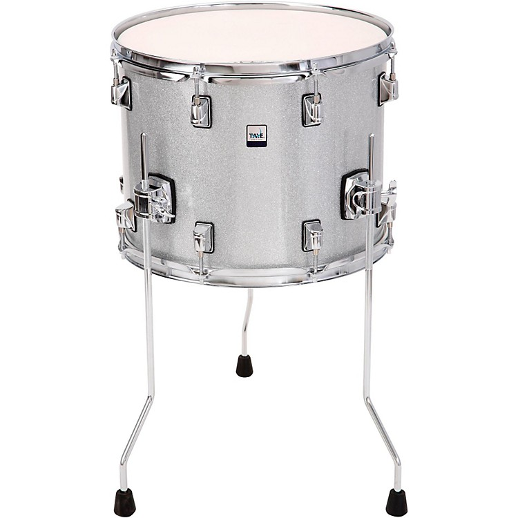 Taye drums gokit floor tom 14x11 inch silver sparkle for 13 inch floor tom