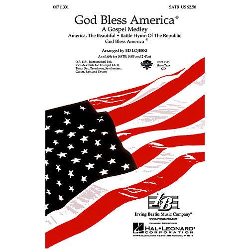 Hal Leonard God Bless America® - A Gospel Medley (SATB) SATB arranged by Ed Lojeski-thumbnail
