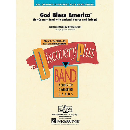 Hal Leonard God Bless America® - Discovery Plus Concert Band Series Level 2 arranged by Paul Jennings-thumbnail