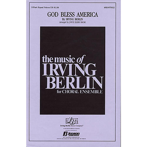 Hal Leonard God Bless America® 2-Part arranged by Paul Jennings