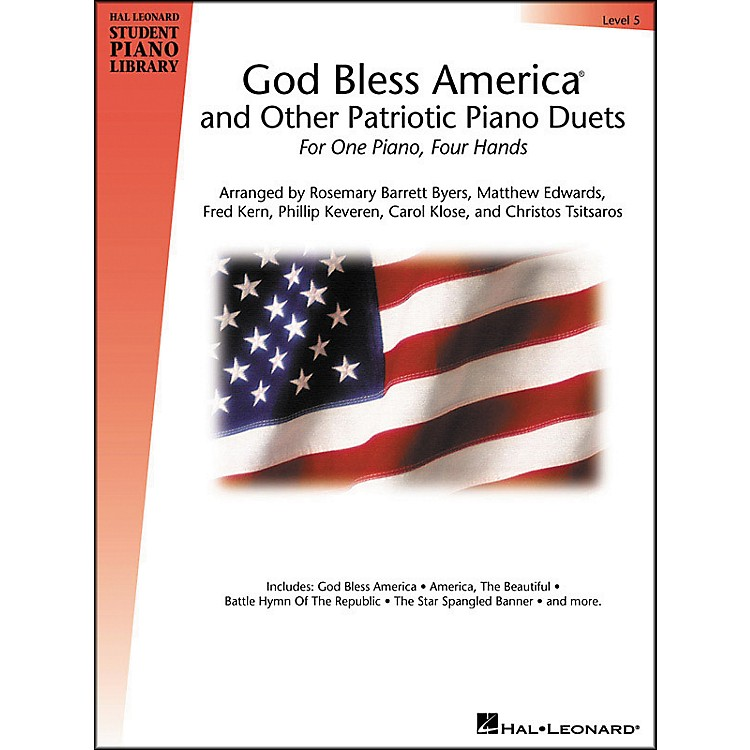 Hal LeonardGod Bless America And Other Patriotic Piano Duets Level 5 Hal Leonard Student Piano Library