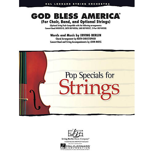 Hal Leonard God Bless America Arranged by Keith Christopher