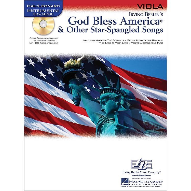 Hal LeonardGod Bless America & Other Star-Spangled Songs for Viola Instrumental Play-Along Book/CD