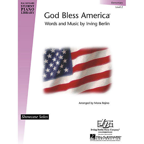 Hal Leonard God Bless America® Piano Library Series by Irving Berlin (Level Elem)-thumbnail