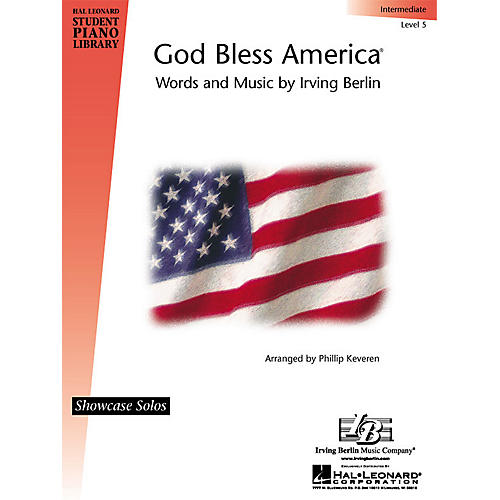 Hal Leonard God Bless America® Piano Library Series by Irving Berlin (Level Inter)-thumbnail