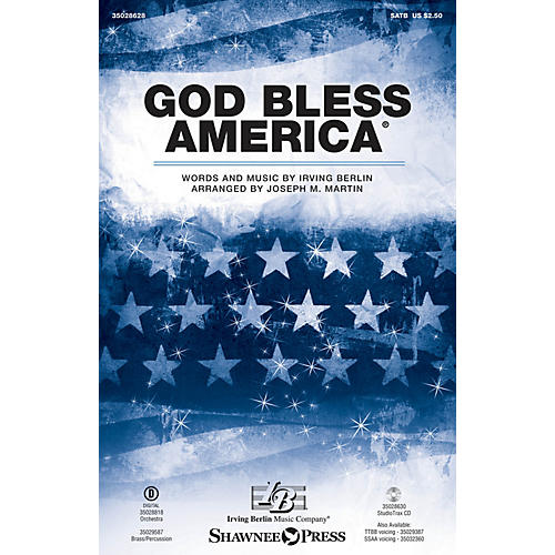Shawnee Press God Bless America SATB arranged by Joseph M. Martin-thumbnail