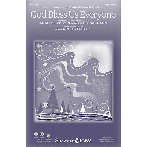 Shawnee Press God Bless Us Everyone ORCHESTRA ACCOMPANIMENT by Andrea Bocelli Arranged by Joseph M. Martin-thumbnail