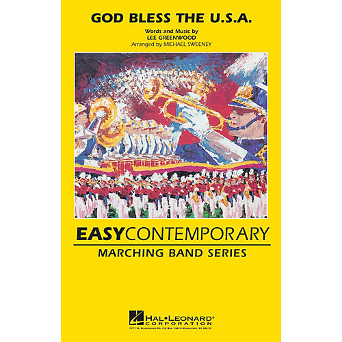 MCA God Bless the U.S.A. Marching Band Level 2 by Lee Greenwood Arranged by Michael Sweeney-thumbnail