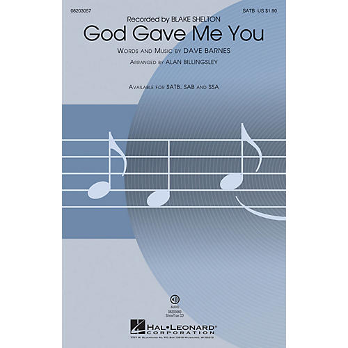 Hal Leonard God Gave Me You ShowTrax CD by Blake Shelton Arranged by Alan Billingsley