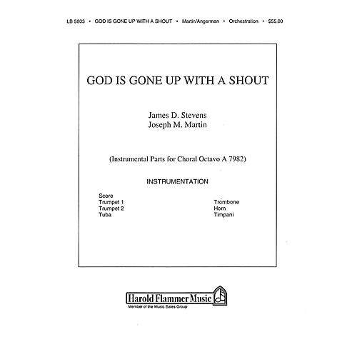 Shawnee Press God Is Gone Up with a Shout BRASS & TIMPANI composed by David Angerman-thumbnail