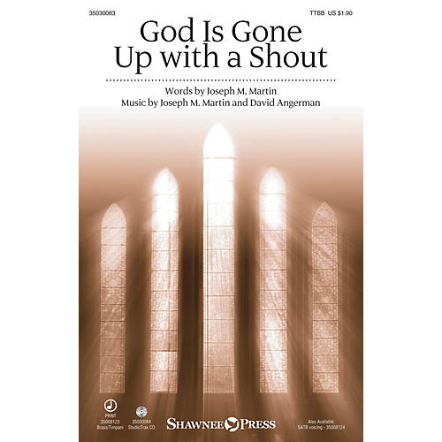 Shawnee Press God Is Gone Up with a Shout TTBB composed by David Angerman-thumbnail
