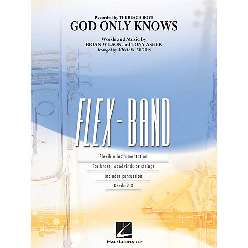 Hal Leonard God Only Knows Concert Band Level 2-3 by Beach Boys Arranged by Michael Brown-thumbnail